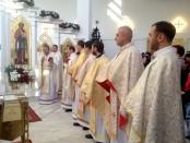 Отець ігумен Роман вітає присутніх, що зібралися на храмове свято